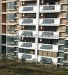 Split Flat plate balcony hanging solar water heater