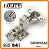 Slide-on hinge for door and cabinet (inset)
