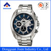 High quality chronograph classic quartz stainless steel watches