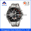 Hot selling Men's Chronograph watch Japan movt quartz stainless steel watches