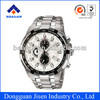 luxury chronograph business quartz stainless steel watches