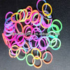 Colorful rainbow loom bands for diy