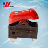 10A 250V Three position hair dryer rocker switch