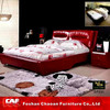 Happy Chinese marriage furniture bed room SP031 wood double bed designs with box