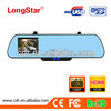 2013 New Blue mirror car rearview mirror camera dvr K5-B with wide angle Novetek 96632 chipset and Bluetooth function