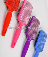 Rhinestone hair brush