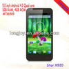 5.0 inch Android 4.2 Quad Core Mobile Phone