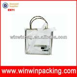 Star pvc lady bag black bag transparent tote bag