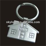 promotional house shape keyring keychain