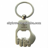 unique metal bottle opener keychain