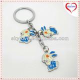 fashion metal rabbit shape key chain