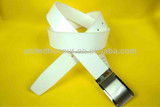 Nice classic leather belts for men in white color