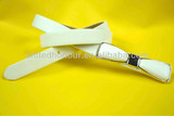 2014 new belt pu ladies belt with pu buckle in bow shape