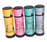 Stainless steel vacuum thermos flask in many designs