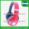 Stereo studio headphone red for DJ music headphone