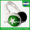 Hot promotional stereo headphones green headphone