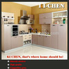 Gloss PVC kitchen cabinet