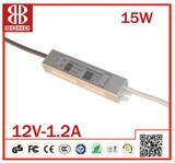 15w waterproof 12v power supply