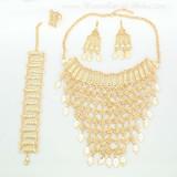 Multi-Chain tassels Long Jewelry China Punk Metal Tassel Necklace Chain Bib Necklace A053