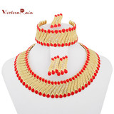 Hot Selling Western Style Handmade Jewelry Fashion Collar Chunky Necklace Set For Women Accessories A080