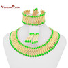 Alibaba Website Metal Chain Braid Chunky Statement Necklace A080
