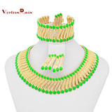 Website Metal Chain Braid Chunky Statement Necklace A080