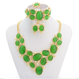 2014 Factory Price Cheap Gemstone Jewelry set Candy Fashion Necklace Designs A322
