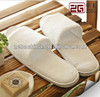 Hotel white disposable terry cotton hotel open toe slippers