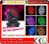 2014New products 6in1 led moving head 36*18w rgbwauv zoom moving head chauvet led moving head