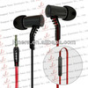 Flat Cable Metal In-ear earphone/earbud/headphone/headset with microphone