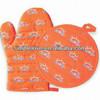 2013 Hot Sale 100 Cotton Printed heat resistant oven mitt