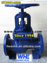 din pn16 cast iron globe valve flanged