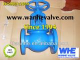 jis 10k iron globe valve flange end