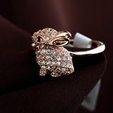 Lovely rabbit shape handmade rings for party girls