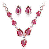 2014 new design fashion opal design jewelry set with good quality