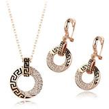 Wholesale Luxury Gold Plated European Style Fashion Jewelry Set