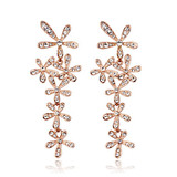2014 Elegant Flower Design 18K Gold Plated Fashion Earring