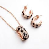 Wholesale 18K gold Austrian fashion crystal jewelry set