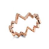 New Design Full Diamond Rose Gold Ring Nickel Free