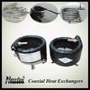 R410a Air to Water Titanium Heat Exchanger Tube Condenser 30KW
