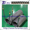 High-efficiency coil-titanium corrugated tube heat exchanger