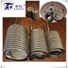 High-efficiency coil-titanium corrugated tube heat exchanger