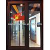 Dark Black Walnut Color Good Sound Insulation Aluminum Window