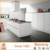 White lacquer kitchen cabinets made in china with wholesale kithen cabinet price