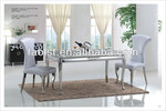 Wholesale best price furniture set french style steel marble dining room table
