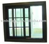 UPVC sliding window of double glass with grid