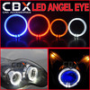 LED Light Guide Angel Eye Ring 3 inches/2.5 inches Halo Ring Good for Bi-xenon Projector lens Mask for Headlight