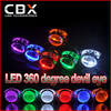 2015 New Circular Projector Led Devil Eye Demon Eye for HID Projector Lens Koito Hella Red Blue White Yellow Green