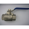 Stainless steel 2pc ball valve thread