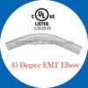 UL 6 listed Steel EMT conduit elbow 45 degree 1/2''-4''